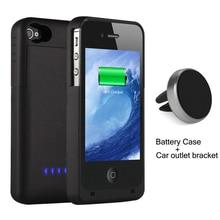 1900 мАч внешний блок питания Зарядное устройство резервного копирования аккумулятор чехол для iPhone 4 4S чехлы с магнитной автомобиля на выходе кронштейн держатель