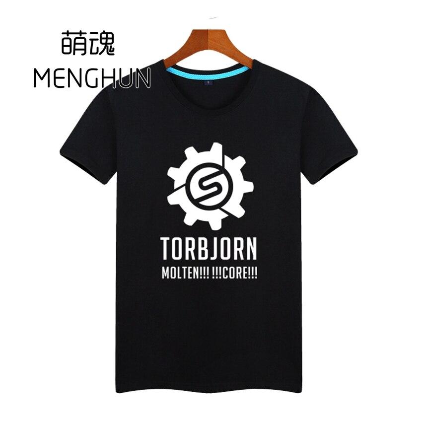쿨 OW 티셔츠 OW 핫 캐릭터 TORBJORN 스킬 로고 인쇄 남성 T 셔츠 게임 팬들을위한 짧은 소매 티셔츠 ac140