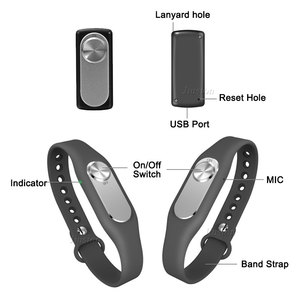 Image 4 - Wearable Digital Voice Recorder 16GB 280 Hours Audio Storage Portable Wristband 4G/8G USB Flash Drive Audio Bracelet Colorful