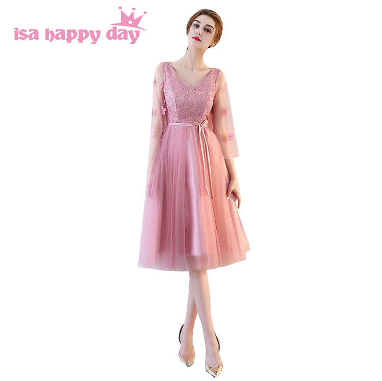 new arrival 2018 robe de soiree blush colored lace up back prom ...