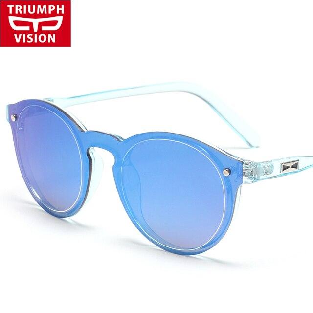 441fbc36f2cca TRIUMPH VISÃO Espelho Redondo Óculos De Sol Dos Homens 2016 Marca de Luxo  Do Vintage Óculos