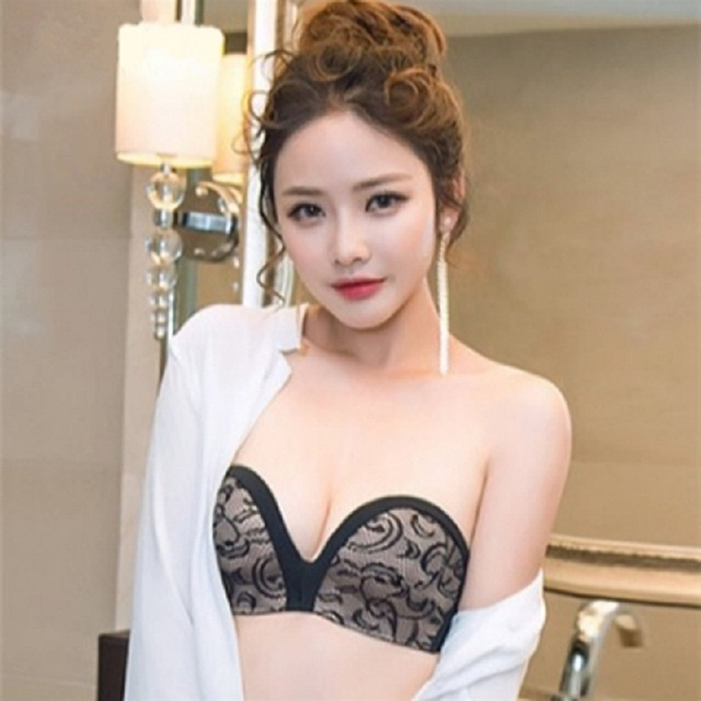 Super Strapless Bra Slip At The Spring And Summer Contact Gather Thin Half Cup Seamless Underwear