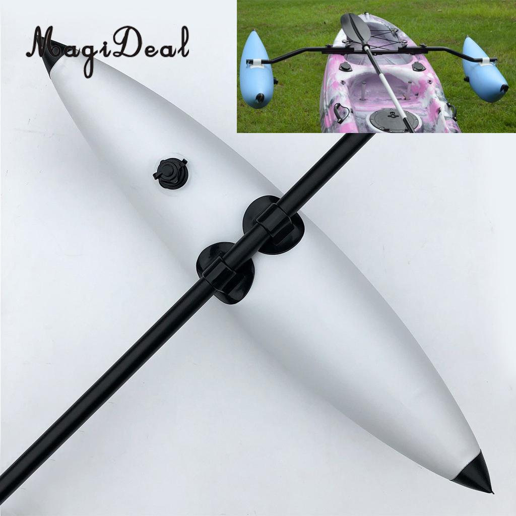 MagiDeal PVC Kayak Canoe Fishing Standing SUP Beginners Inflatable Outrigger Stabilizer Water Buoyant Float Gear Equipment