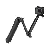 SHOOT Waterproof 3 Way Grip Monopod Mount For Gopro Hero 5 3 4 Session SJ4000 Xiaomi