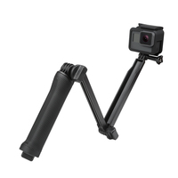 SHOOT Waterproof 3 Way Grip Monopod Mount For Gopro Hero 5 3 4 Session SJ4000 Xiaomi