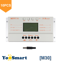 10PCS/LOT Wholesale MPPT 30A Solar Controller 12V 24V Auto Work USB 5V Solar Panel Battery LCD Charger Controller MPPT30 30Amps