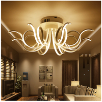 Modern Led Living Room Ceiling Lights Bedroom Acrylic Lamp Plafond Lamp Ceiling Lamps Lighting Fixtures Brightness