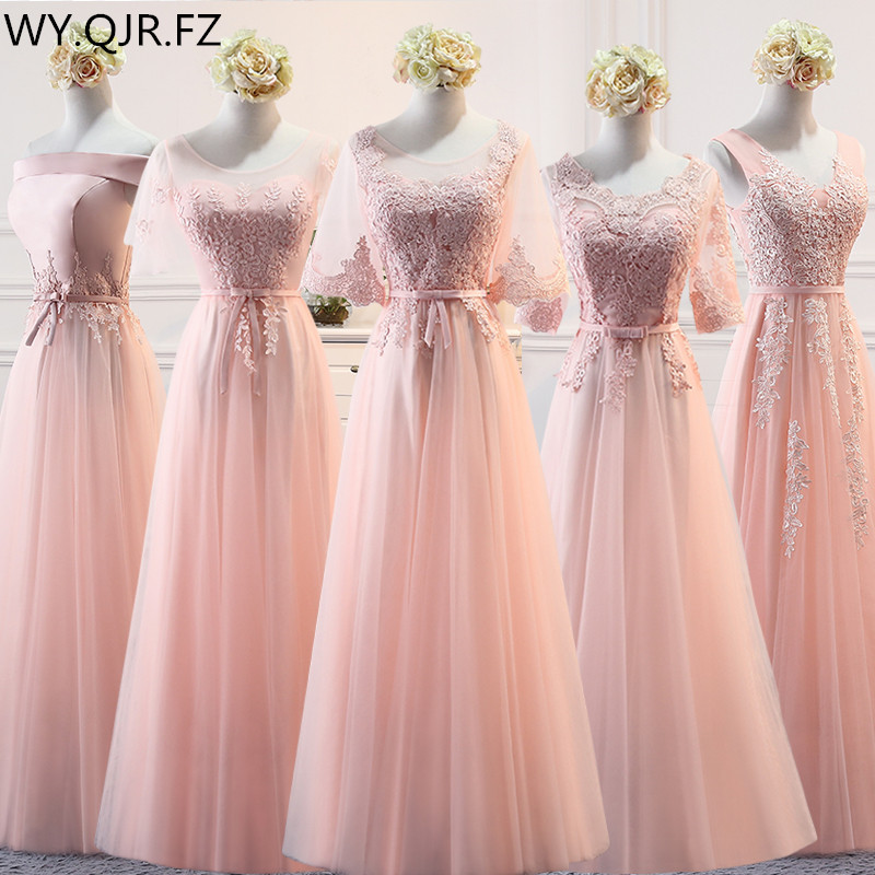 MSY03F#Pink Lace Up   Bridesmaid     Dresses   Long Middle Short Style Wedding Party   Dress   Prom Gown Wholesale women Clothing China