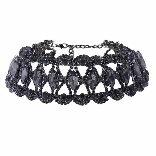 Rhinestone Crystal Statement Necklace