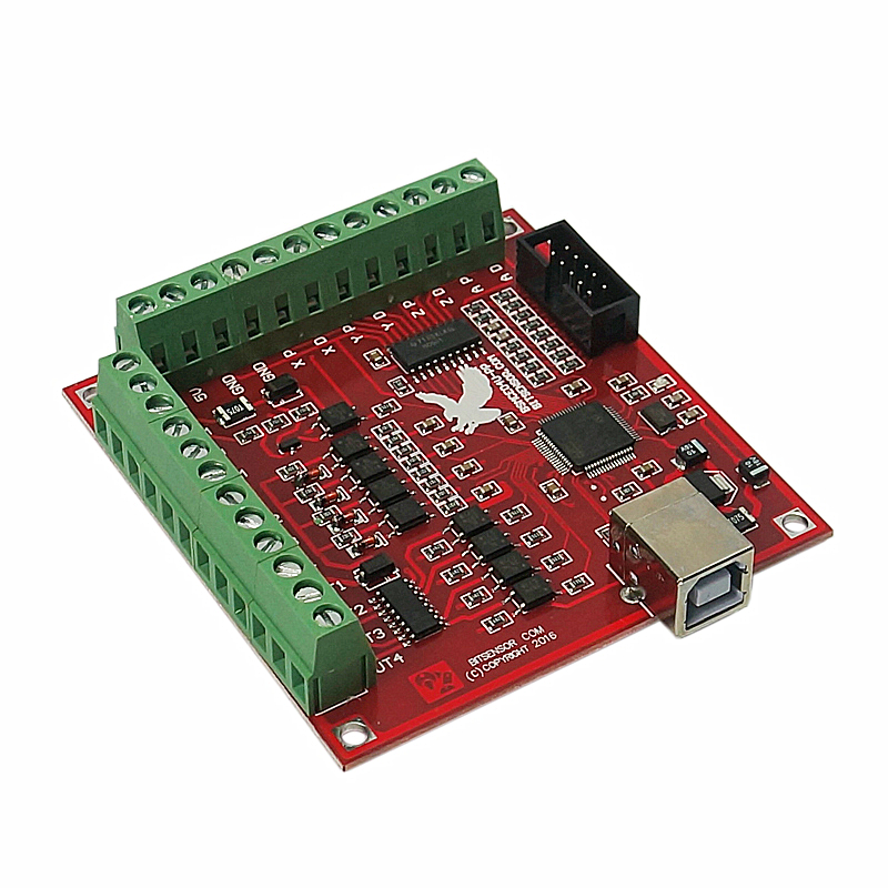 4 Axis 100KHz CNC Motion Controller Card With USB Cable Suitable for Servo/Stepping Motor 10