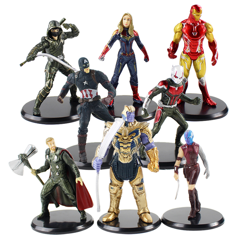 The Avengers Ironman Thanos Antman Wonder Woman Action Figure Kids Toy 8 PCS