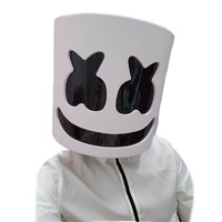 2018 Mask Marshmallow Helmet Marshmallow DJ Mask Face Hat Concert Props Helm PVC Halloween Christmas Music Fans Adult kids Gift