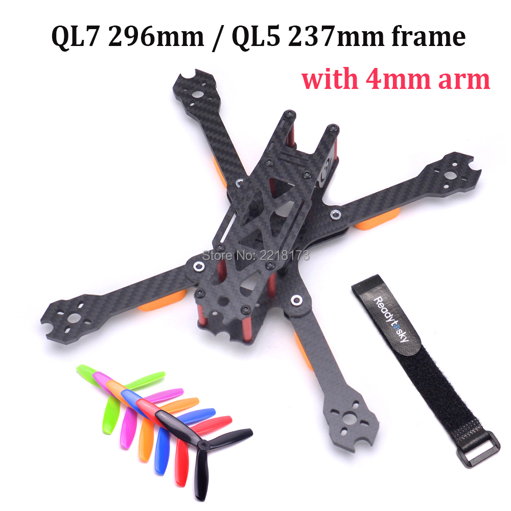Full Carbon Fiber QL5 237 237mm 5inch / QL7 296 296mm 7inch FPV Freestyle Frame with 4mm arm for FPV Racing Quadcopter QAV-X fpv racing drone frog 218 carbon fiber quadcopter frame kit 4mm arm for qav xs qav210 thor x5 crusader page 3