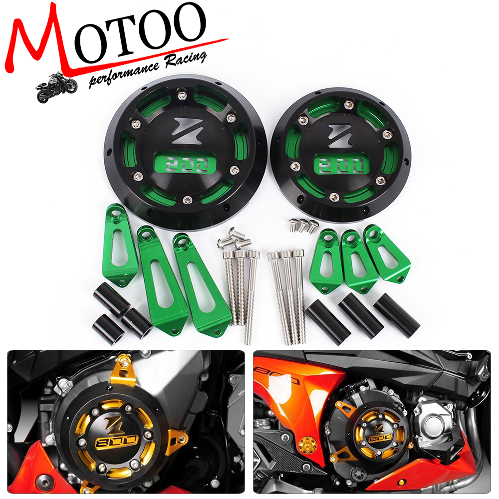 Motoo- Motorcycle CNC Aluminum Engine Stator Cover Engine Protective Cover For KAWASAKI Z800 2013-2015 aluminum water cool flange fits 26 29cc qj zenoah rcmk cy gas engine for rc boat