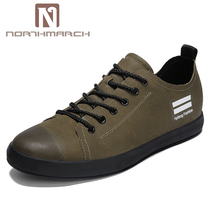 NORTHMARCH Genuine Leather Shoes Men New Fashion Sneakers Lace-Up Casual Shoe For Men Breathable Flat Shoes Men ChaussureNORTHMARCH Genuine Leather Shoes Men New Fashion Sneakers Lace-Up Casual Shoe For Men Breathable Flat Shoes Men Chaussure