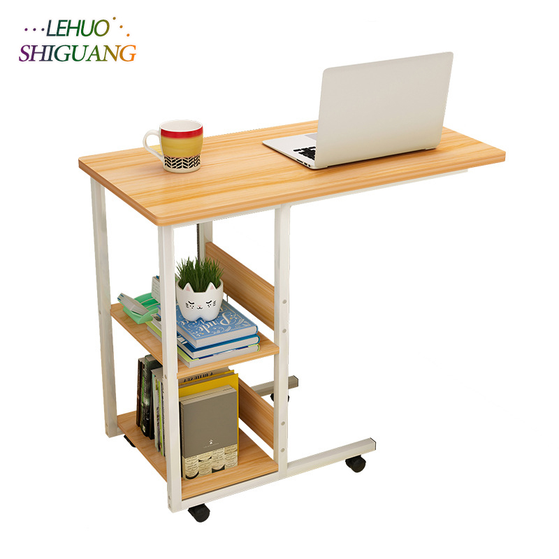 Wooden Furniture Laptop Desk Student Dorm Computer Desk Bedside Desk Mobile Living Room Computer Desk