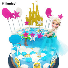 16pcs/set Cake Decoration Topper Cupcake Picks Lovely Baby Shower Party Favor Gifts For Kids Birthday Wedding Decoration sets