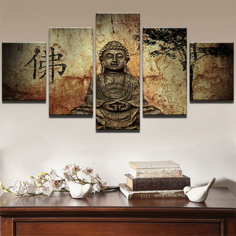 modern pictures painting home decorative buddhism modular