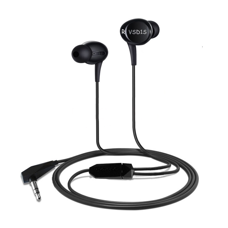 VSONIC VSD1Si with Microphone Professional Noise-isolation HIFI Earphones Earbuds headset vsonic new vsd2si with microphone vsd2s professional noise isolation hifi inner ear earphone headset earbugs