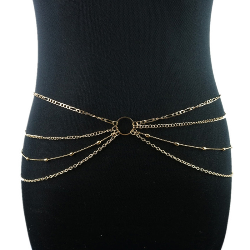 Hot New Fashion Women Girls Waist Belly Tassels Body Chain Sexy Beach Body Chain Jewelry   Belt   2018