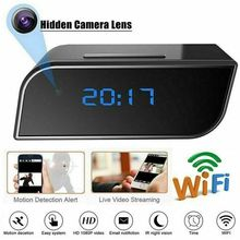 WIFI Digital Alarm Clocks With HD 1080P Wifi Camera Motion Security IR Cam