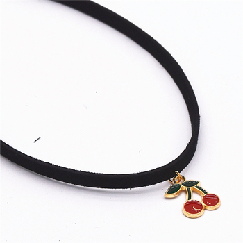 Leather Necklace Torques Pure Black Velvet Leather Maxi Statement Chokers Necklace 1