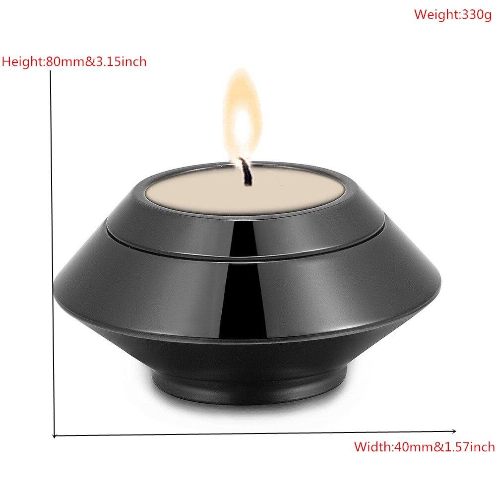 купить KLH041B Black Stainless Steel Candlestick Urn for Human Ashes Engraveable Funeral Memorial Ashes Keepsake Locket-Cremation Urns по цене 3047.49 рублей