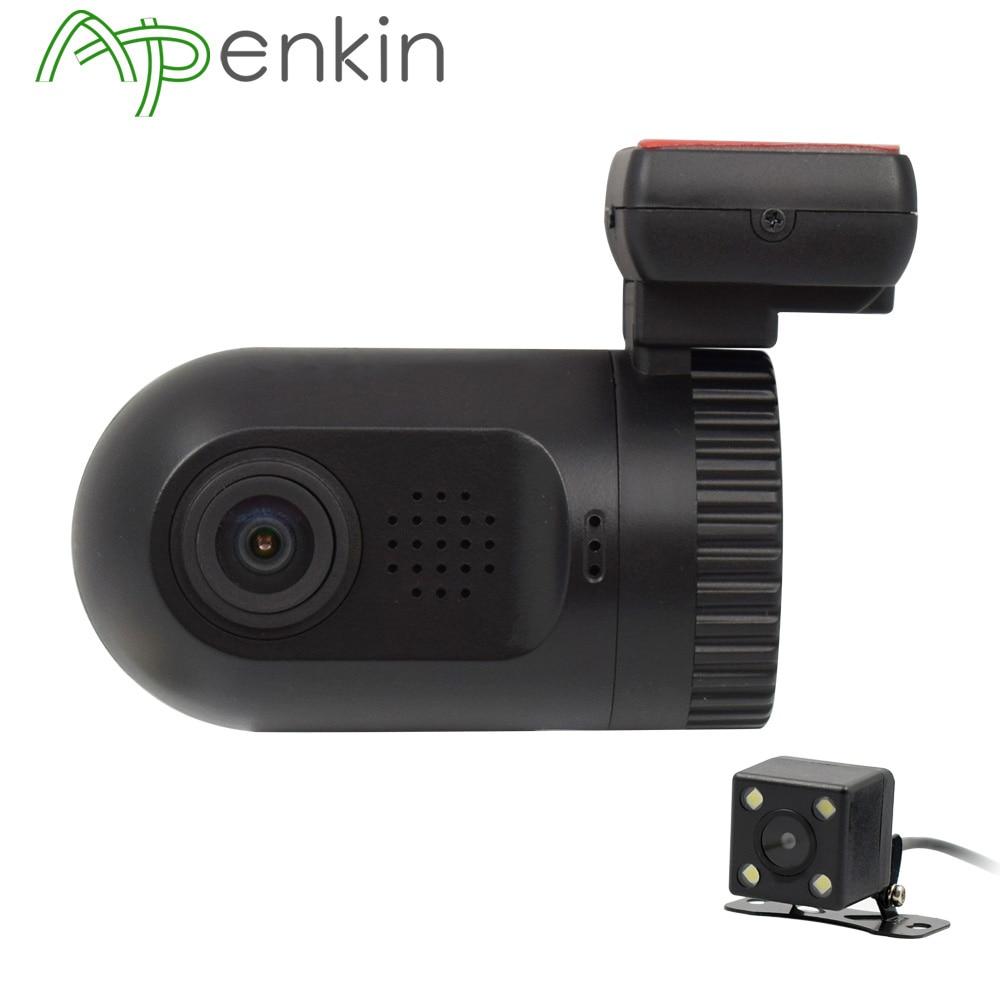 Arpenkin Mini 0801S Car Dash Camera Full HD 1080P Video Registrar Dual Lens Backup Rearview Parking