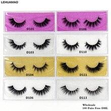 цены на LEHUAMAO 100 pairs 3D Mink Lashes Long Lasting false Eyelashes Luxury HandMade 25styles High Volume Cruelty free Lashes Free DHL  в интернет-магазинах