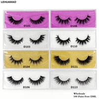 LEHUAMAO 100 pairs 3D Mink Lashes Long Lasting false Eyelashes Luxury HandMade 25styles High Volume Cruelty free Lashes Free DHL
