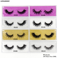 LEHUAMAO 100 pairs 3D Mink Lashes makeup false Eyelashes Luxury Hand Made Mink Lashes 25styles High Volume Cruelty wholesale