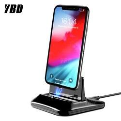 YBD magnetyczna ładowarka do telefonu iPhone Huawei stacja dokująca ładowarka do Samsung Xiaomi Android typ C Micro stojak uchwyt ładowania w Ładowarki do telefonów komórkowych od Telefony komórkowe i telekomunikacja na