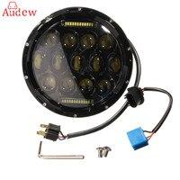 7 inch 75 Watt Runden Led-scheinwerfer 7500LM Hallo/Abblendlicht Scheinwerfer mit Lampe DRL Für Jeep/Wrangler/Land Rover/Harley-davidson