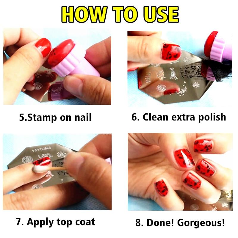 DIY Nail Art Stamper + Scraper, for Nail Stamping Template Nail ...