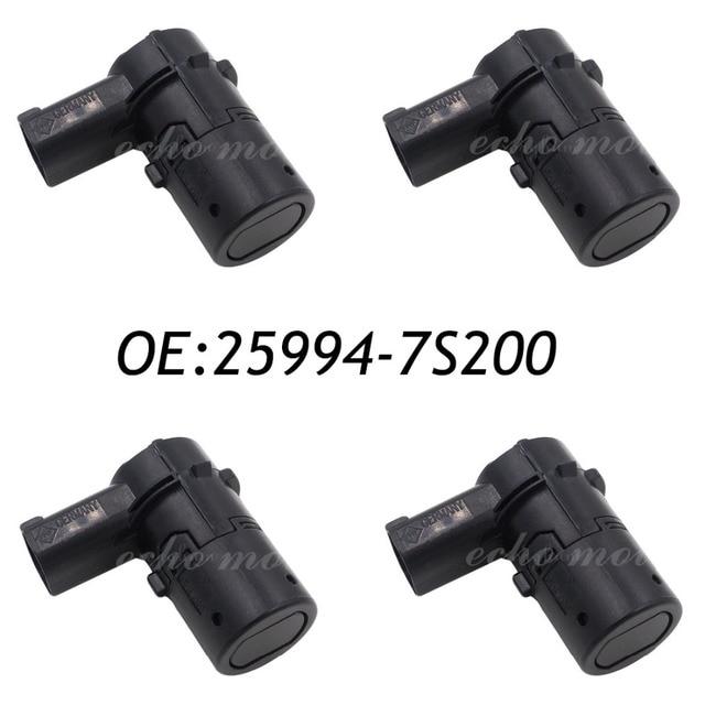 New 4pcs 25994-7S200 Rear Parking Assist Sensor Radar PDC Sensor Fits 2003-04 Nissan Armada Titan 25994-7S000, 25994-7S10A