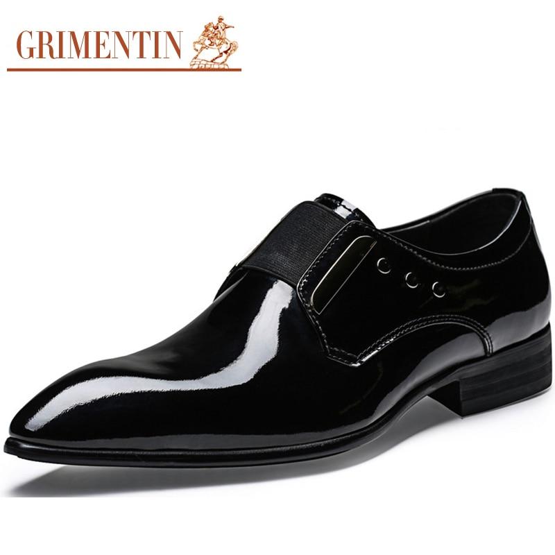 Mens Designer Patent Leather Shoes