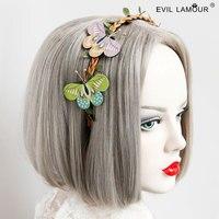 Princesse douce lolita style Coréen Tissu art papillon bande De Cheveux mori Tête boucle mariée photographie de mariage accessoires FG-67
