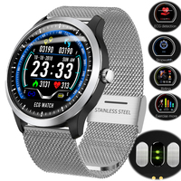 N58 ECG PPG smart watch with electrocardiograph ecg display,heart rate monitor blood pressure Fitness Run men women smart watch
