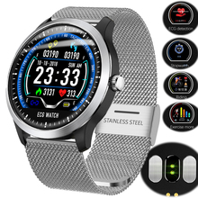 Smart-Watch ECG Fitness Electrocardiograph Men Women PPG with Display Heart-Rate-Monitor
