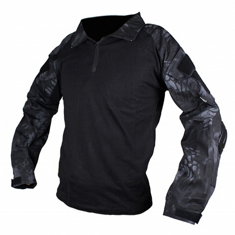 CQC Military Army Tactical Shirt Gen2 Hunting Airsoft Paintball Men Long Sleeves BDU Combat Shirt With Elbow Pads Typhon classic plaid pattern shirt collar long sleeves slimming colorful shirt for men