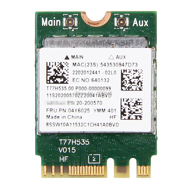 US $12 58 |Band New Realtek RTL8723BE 802 11bgn 300Mbps Wireless Wifi NGFF  card for IBM FRU 04X6025 Laptop Network Wlan Adapter-in Network Cards from