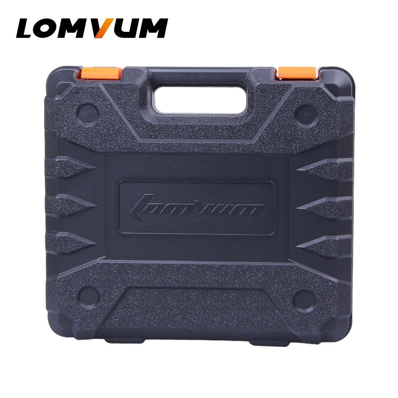 LOMVUM Custodia In Plastica per Trapano Cordless BMC Box per Trapano Elettrico con Batteria PC SCATOLA Vuota per Cacciavite Elettrico Carry box
