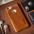 Floveme genuine leather case para iphone 6 6 s cobertura de luxo para apple iphone 6 s iphone6 ultra fino coque de metal com o logotipo buraco Capa