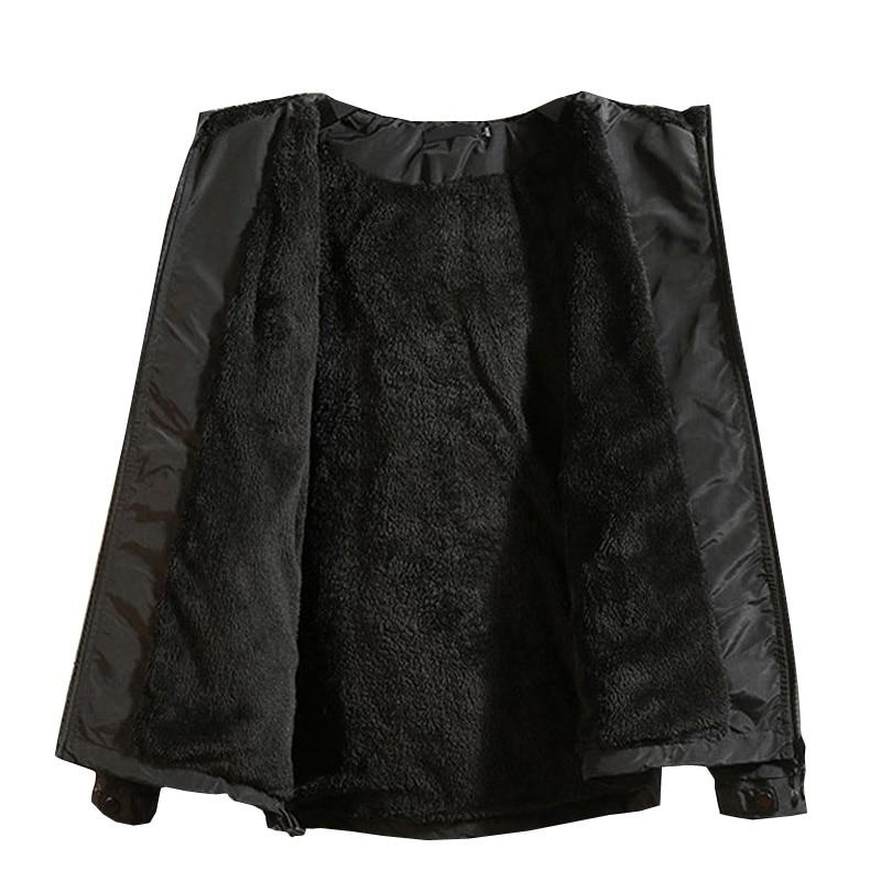 Hiver nouveau Design Simple épais chaud à capuche veste hommes noir gris couleurs jeunesse mode lâche coupe vent vestes manteaux 4XL 5XL - 2