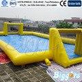 Inflatable biggors estádio campo de futebol de sabão inflável para jogos de esportes