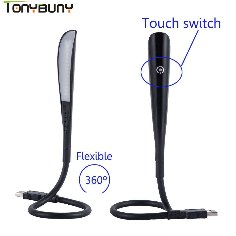 Portable Min LED Book Light Energy-saving Led Reading Light Power Bank Comupter Notebook Mini USB Table Lamp Protect Eye Lights