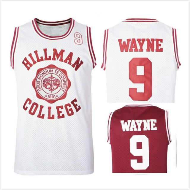 345ae9ba050d Dwayne Wayne 9 Hillman College Theater Basketball Jersey A Different World  All Stitched Sewn Retro Movie