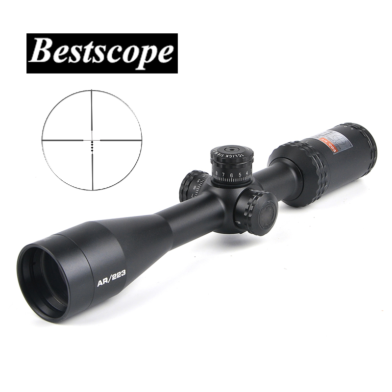 BUSHNELL 4.5-18x 40mm Optics Drop Zone 223 BDC Reticle Riflescope with Target Turrets and Side Parallax for Rifle Airsoft Rifle