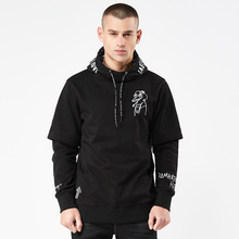 Men Hoodies America Letter Embroidery Pullover Sweatshirts Spring Autumn Fake two pieces Streetwear Hip Hop lil peep Clothing