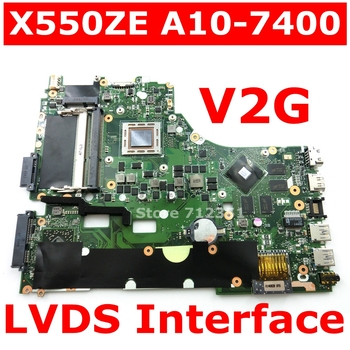 цена на X550ZE A10-7400 CPU V2G Mainboard For ASUS X550ZA X550Z VM590Z K550Z X555Z Laptop motherboard USB3.0 90NB06Y0-R00050 100% Tested